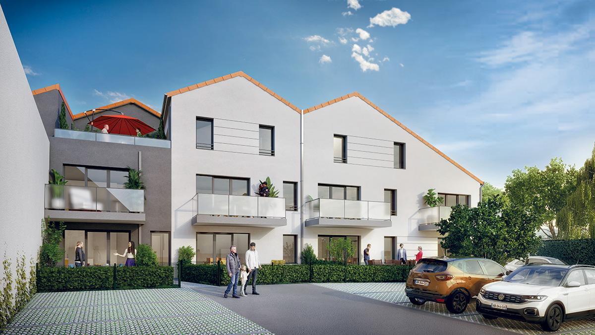 Programme immobilier neuf en Loire Atlantique : Patio du Vignoble à Vallet - TK Promotion